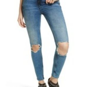 NWT Free People Busted Knee Skinny Jeans Sz 30L